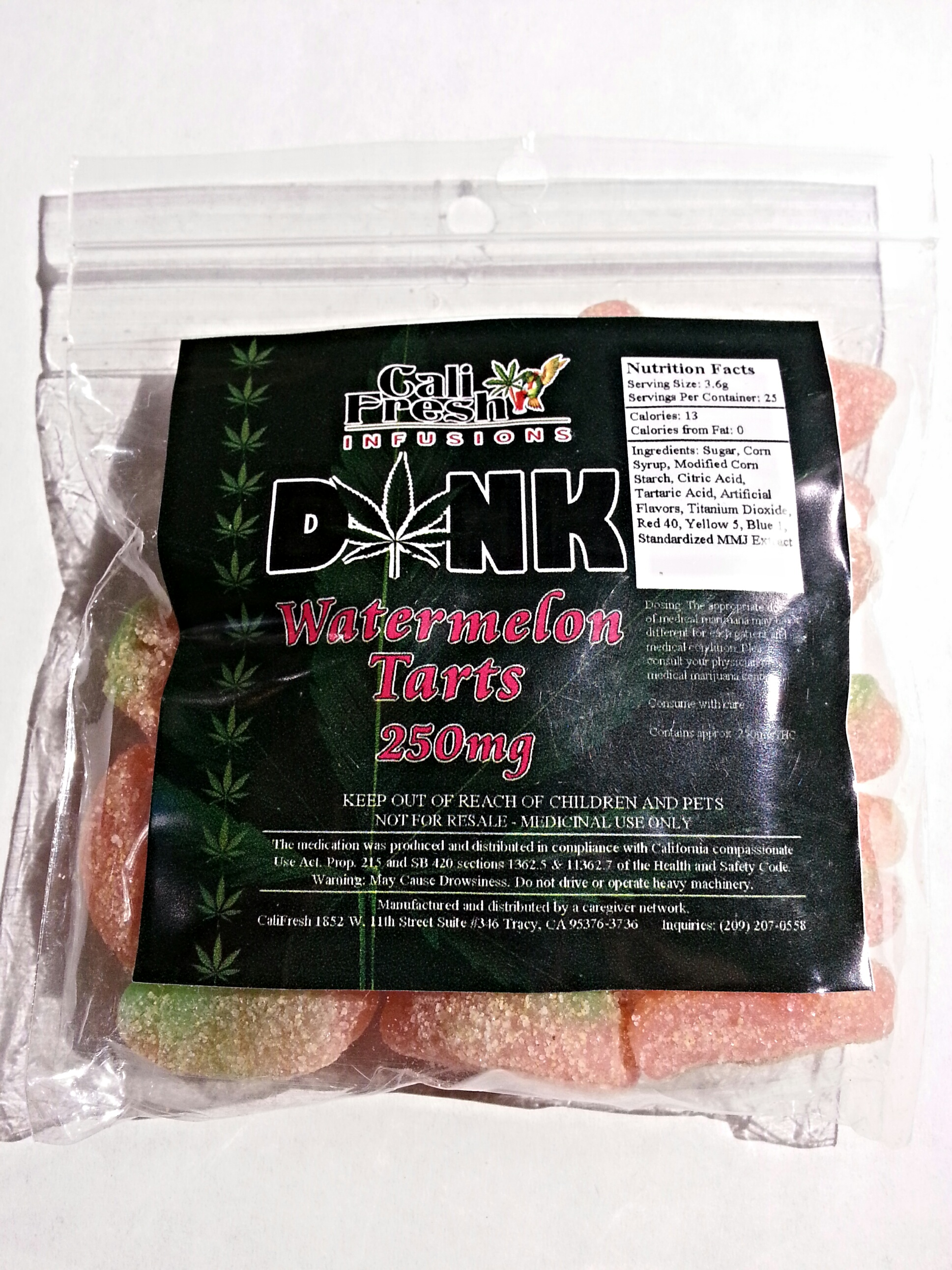 Cali Fresh Infusions Dank Watermelon Tarts Edible Review