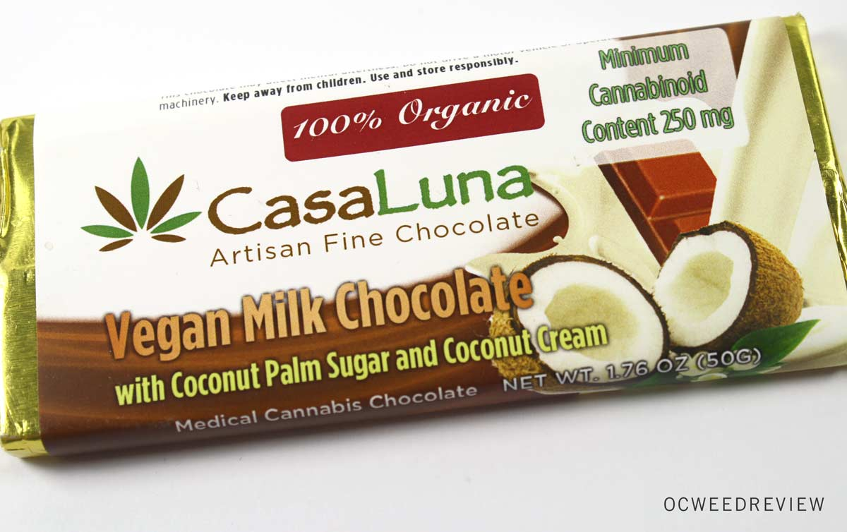 Casa Luna Vegan Milk Chocolate Bar Review | OC Weed Review